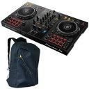 Pioneer DJ DDJ-400 + a.m.p UF-400 BACKPACK セット 【rekordbox djライセンスキー付属】