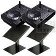 Pioneer CDJ-350 + DJスタンダー TWIN Set 【CDJキャンペーン対象外】【USBフラッシュメモリ8GB×2本プレゼント】