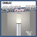 エクステリア 屋外 照明 ライトオーデリック(ODELIC) 【ポールライト OG254660LD】 地上高70cm ポールライト ガーデンライト LED 電球色 マットシルバー色