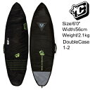 """Creatures Of Leisure SurfBoards HardCase Double Boardcovers 6'0"""" / クリエイチャー ショートボード ハードケース ダブルケース 18.."""