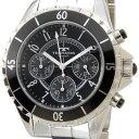 【お取り寄せ】テクノス(TECHNOS)(国内正規代理店品)メンズ 腕時計 クロノグラフ ステンレス×セラミック クォーツ ブラック |T3032TB