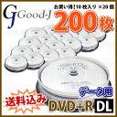 �ڵ�Ͽ��ǥ����ۡ�200��=10�祹�ԥ�ɥ륱������20�ġ� ���������ߡ� Good-J DVD+R DL �ǡ����� 8.5GB 2.4-8��® 200��(10���20��)���ԥ��...