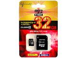 【ネコポス対応 3個まで】【microSDHC 32GB class10】 Good-J(グッドジェイ) SDカード アダプタ付 マイクロSDHCカード 32GB クラス10 (G-MICROHC32-C10)【RCP】
