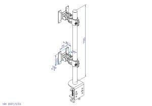 4軸式デュアルモニタースタンドサンコーMARMGUS22V
