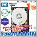 【HDD 内蔵 3.5インチ SATA 1TB IntelliPower】 Western Digital(ウエスタン デジタル) Serial ATA 内蔵用ハードディスク 3.5インチ 1TB WD Purple(WD10PURX)【RCP】