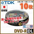 【記録メディア】TDK DVD-R DL データ&録画用 CPRM対応 8.5GB 2-8倍速 10枚スピンドルケース ワイドホワイトレーベル (DR215DPWB10PS)【RCP】