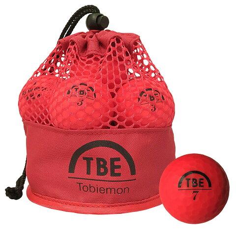 【ゴルフボール 1ダース(12球) 飛距離up メッシュバッグ マットボール】 R&A公認球 ゴルフボール TOBIEMON 飛衛門(トビエモン) メッシュバック マットボール レッド (T-MRE) 【RCP】
