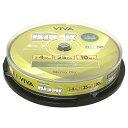 【ブルーレイディスク】 VIVA(ヴィバ) BD-R データ&デジタルハイビジョン録画用 25GB 1-4倍速 ワイドホワイトレーベル 10枚スピンドルケース (VR4-10P) 【RCP】◎