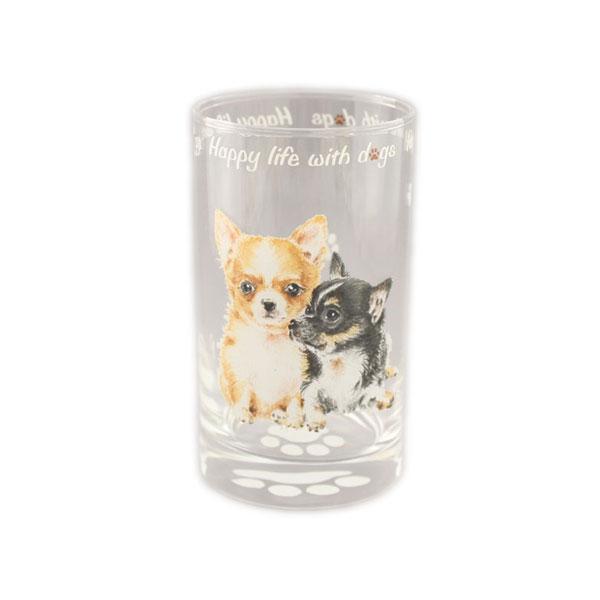 わんコレ ガラスタンブラー 【S12 チワワ】犬雑貨 犬グッズ【楽ギフ_包装選択】