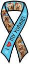 寵物, 寵物用品 - ドッグブリード リボン カーマグネット【ヨークシャー・テリア/ヨーキー】【ブルー】輸入雑貨 犬雑貨 犬グッズ