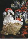ショッピングクリスマスカード クリスマスカード【Kitty Glitter】【猫雑貨・猫グッズ】