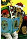 ショッピングクリスマスカード クリスマスカード【エアデールテリア】輸入雑貨 犬雑貨 犬グッズ
