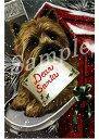 ショッピングクリスマスカード クリスマスカード【ケアーン・テリア/ケアン Letter for Santa】輸入雑貨 犬雑貨 犬グッズ