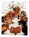 ショッピングクリスマスカード クリスマスカード Ruth【ダックス】輸入雑貨 犬雑貨 犬グッズ クリスマス クリスマスカード Xmas