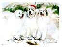 ショッピングクリスマスカード クリスマスカード Ruth【グレート・ピレニーズ】輸入雑貨 犬雑貨 犬グッズ クリスマス クリスマスカード Xmas