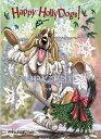 ショッピングクリスマスカード Holidayクリスマスカード【バセットハウンド】輸入雑貨 犬雑貨 犬グッズ