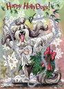 ショッピングクリスマスカード Holidayクリスマスカード【ビアデッド・コリー】輸入雑貨 犬雑貨 犬グッズ