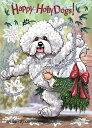ショッピングクリスマスカード Holidayクリスマスカード【ビション・フリーゼ 】輸入雑貨 犬雑貨 犬グッズ