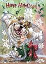 ショッピングクリスマスカード Holidayクリスマスカード【ブルドッグ】輸入雑貨 犬雑貨 犬グッズ