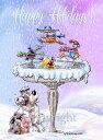 ショッピングクリスマスカード Holiday Dog puppyクリスマスカード【オーストラリアン・シェパード 】輸入雑貨 犬雑貨 犬グッズ