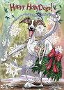 ショッピングクリスマスカード Holidayクリスマスカード【ウィペット】輸入雑貨 犬雑貨 犬グッズ