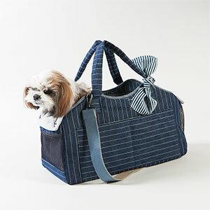 【LOUIS DOG(ルイドッグ/ルイスドッグ)】Tote Bag/Indigo Stripes Grand(トートバッグ/インディゴ ストライプ/グランド)【送料無料】【対応】 ★【送料無料】おしゃれな新作キャリーバッグ★