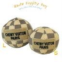【Haute Diggity Dog(オートディギティドッグ)】Checker Chewy Vuiton plush ball Toy/Sm...