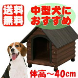 《コーギー・ビーグル等の中型犬にオススメ!》【】ログ犬舎 LGK-600[犬小屋・中型犬用・屋外用・ハウス・アイリスオーヤマ]【RCP】【0530pefl】