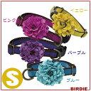 【BIRDIE】7300 ダリアの首輪 S ピンク パープル ブルー イエロー犬 ドッグ 首輪 カラー Pet館 ペット館 楽天 【TC】