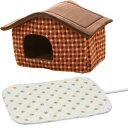 ショッピングホットカーペット ハウス Lサイズ PHJ720 +ペット用ホットカーペット 角型 LLサイズ PHK-LL レッド グリーン送料無料 ホットマット 電気カーペット ホットカーペットベッド ベッド ペット 犬 猫 アイリスオーヤマ