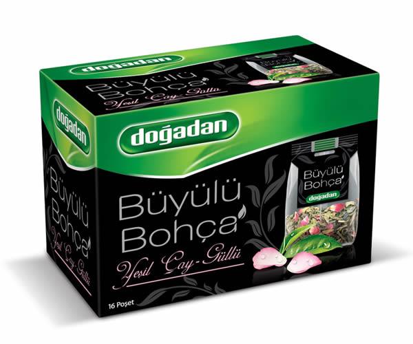 【dogadan(ドアダン)】【Buyulu Bohca】ローズ・グリーンティー ティーバッグ【緑茶】【バラの花びら入り】