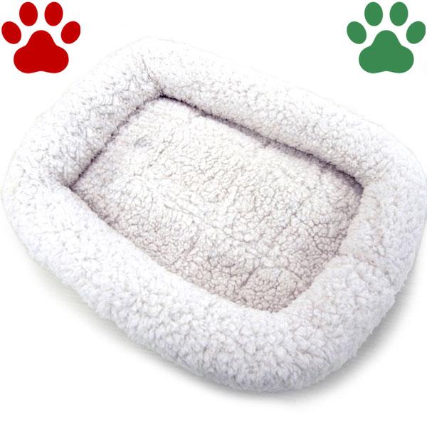【25】[定番] ペットプロ 超小型犬用/猫用 マイライフベッド SSサイズ 42x39cm ホワイト ベッド ふわふわ 暖か シンプル 冬
