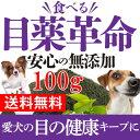犬の視力・目に 無添加 サプリ(食べる 目薬 革命 100g)【メール便 送料無料】ブルーベリーとクロレラが入った犬用・サプリメント