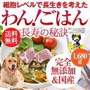 無添加・国産 ドッグフード(わん ごはん 長寿の秘訣 1680g)【送料無料】犬の足・関節・腰・免疫力を強化の為のご飯