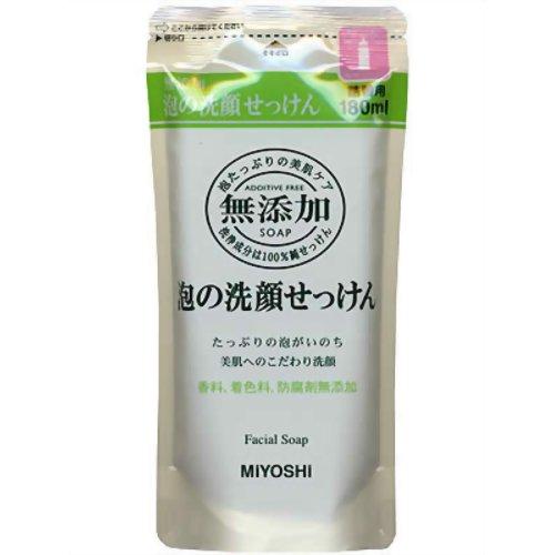 ミヨシ 無添加 泡の洗顔せっけん 詰替用 180mLd.s.n