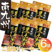 ご当地ジャーキー☆6袋セット☆南九州黒毛和牛焼きビーフ 90g GTJ-90B[ビーフジャーキー 犬用 おやつ アイリスオーヤマ]楽天