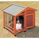 サークル犬舎 CL-1100 ブラウン 中型犬用 (体高約5...