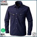 中国産業(CUC) 長袖シャツ サイズ:3L  14.パープル | CHUSAN DOGMAN 作業服 作業着