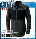 藤和(TS DESIGN) ハイブリッドストレッチシャツ [ 84605 ] 92ブラック×チャコールグレー サイズ:L 作業服 作業着