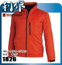 藤和(TS DESIGN) メガヒート ライトウォームジャケット [ 1826 ] 85オレンジ サイズ:L 作業服 作業着 防寒着