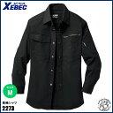 XEBEC(ジーベック) 長袖シャツ サイズ:M  90.クロ / 現場服 作業服 作業着