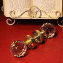 アンティーク カットガラス ドアハンドル ドアノブ 取手 丸いノブ 丸いドアノブ インテリア