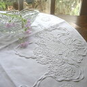 アンティーク クロス テーブルセンター 丸 刺繍 ラウンド 食卓 テーブル 母の日 敬老の日 贈り物 プレゼント 敷物