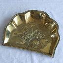 アンティーク ちりとり 食卓 トレイ イギリス 花 真鍮 雑貨 ディスプレイ デスク インテリア 母の日 プレゼント