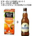 【ビールミックスカクテル】ビターオレンジお試しセット!ミニッツメイドオレンジジュース100%200mlパック×3本+ABI ヒューガルデン ホワイト 瓶 330ml×3本セット!【ビール ホワイト 小麦 カクテル ベルギー 父の日】