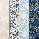 ninaシリーズ オックスプリントA柄 小花リーフドット ココ 綿100% 人気の北欧調 生地幅110cm ※50cm以上10cm単位の販売です。購入例・・数量...