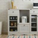 【送料無料】レンジボード 9075 (BR/WH) 家電置き 家電収納 レンジ台 キッチンカウンター...