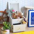 【送料無料】コスメBOX (BR/WH) ドレッサー ミラー 鏡 かがみ 化粧ボックス メイクボックス 収納ボックス 収納BOX 収納家具 ボックス キューブボックス ロー ロースタイル 収納 ブラウン ホワイト 茶 白 コンパクト ミニ収納 組合せ家具 可愛い 引き出し