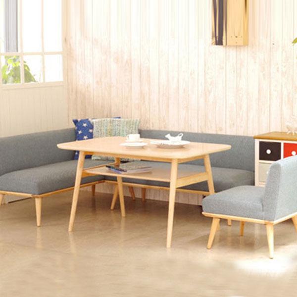 【送料無料】ダイニング4点セット(BL/BR) ちょっとだけ低めのセット ソファータイプなので、リビングでも使えます。 シンプルで丸みのあるデザインが、お部屋を暖かい雰囲気にしてくれます♪ 好みに合わせて選べる2色