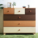 90ローチェスト 3色で構成された、ナチュラルテイストのチェスト。天然木を色分けして塗装した個性的なデザインで、単なる「家具」では…
